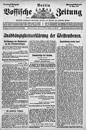 Vossische Zeitung vom 18.03.1918