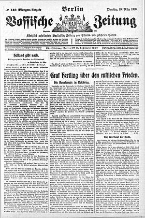 Vossische Zeitung vom 19.03.1918