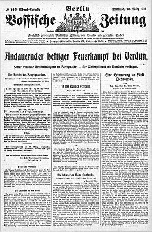 Vossische Zeitung vom 20.03.1918
