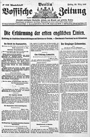 Vossische Zeitung vom 22.03.1918