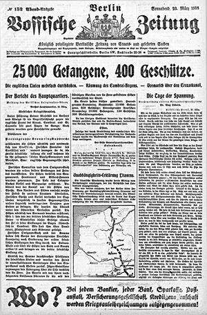Vossische Zeitung vom 23.03.1918