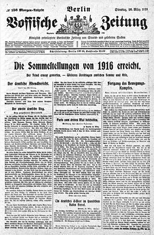 Vossische Zeitung vom 26.03.1918
