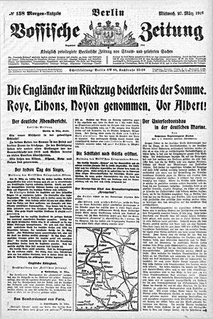 Vossische Zeitung vom 27.03.1918