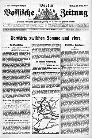 Vossische Zeitung vom 29.03.1918