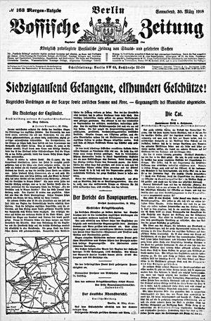 Vossische Zeitung vom 30.03.1918