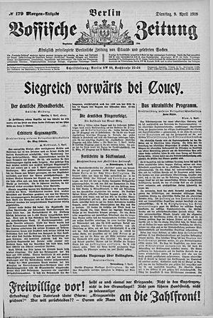 Vossische Zeitung vom 09.04.1918