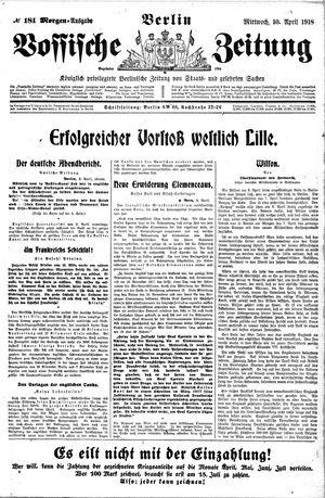 Vossische Zeitung vom 10.04.1918