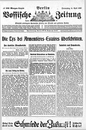 Vossische Zeitung vom 11.04.1918