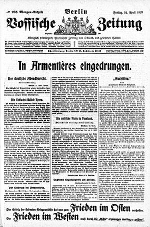 Vossische Zeitung vom 12.04.1918