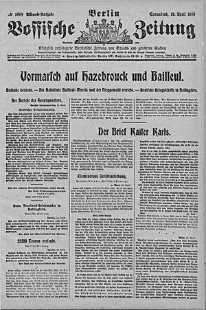 Vossische Zeitung vom 13.04.1918