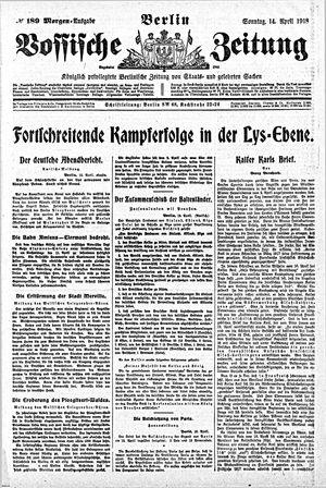 Vossische Zeitung vom 14.04.1918