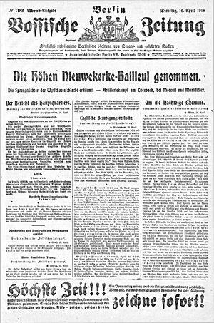 Vossische Zeitung vom 16.04.1918