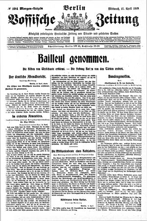 Vossische Zeitung on Apr 17, 1918