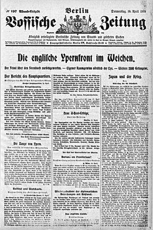 Vossische Zeitung on Apr 18, 1918