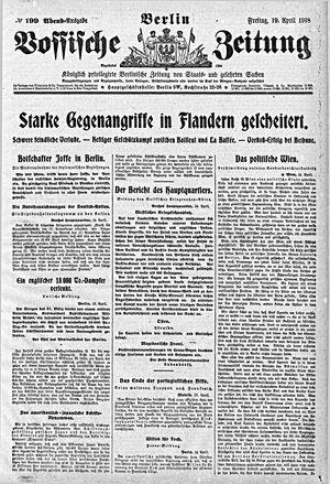 Vossische Zeitung vom 19.04.1918