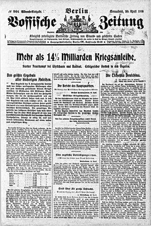Vossische Zeitung vom 20.04.1918