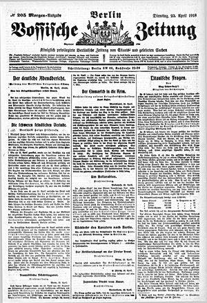 Vossische Zeitung vom 23.04.1918