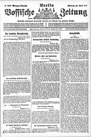 Vossische Zeitung vom 24.04.1918