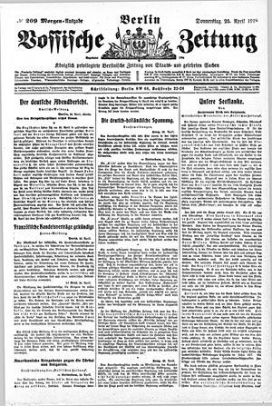 Vossische Zeitung vom 25.04.1918
