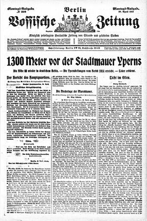 Vossische Zeitung vom 29.04.1918