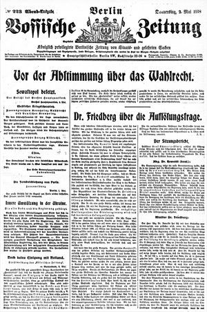 Vossische Zeitung vom 02.05.1918
