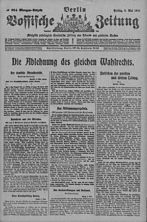 Vossische Zeitung vom 03.05.1918