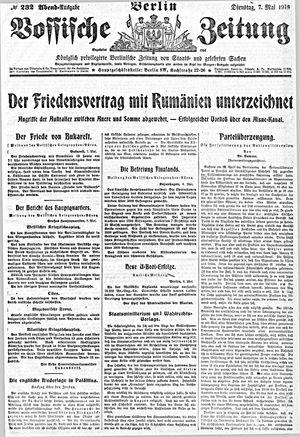 Vossische Zeitung on May 7, 1918