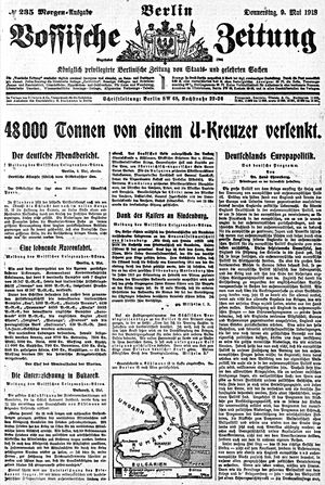 Vossische Zeitung on May 9, 1918