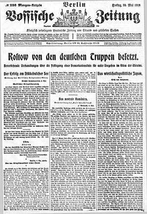 Vossische Zeitung on May 10, 1918