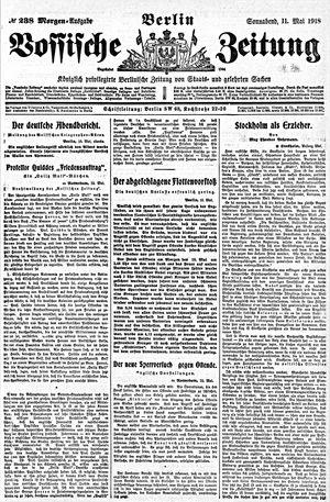 Vossische Zeitung vom 11.05.1918