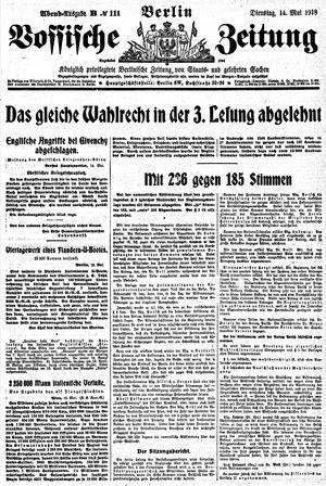 Vossische Zeitung vom 14.05.1918