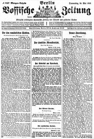 Vossische Zeitung on May 16, 1918