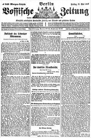 Vossische Zeitung vom 17.05.1918
