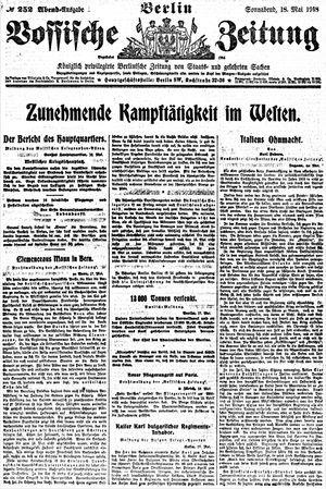 Vossische Zeitung vom 18.05.1918