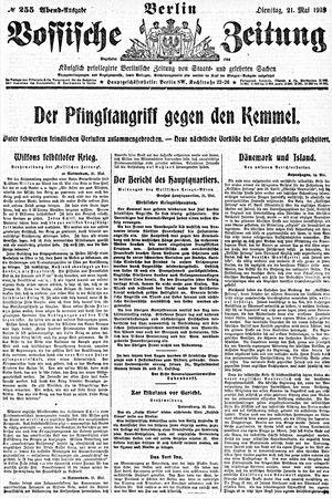 Vossische Zeitung vom 21.05.1918