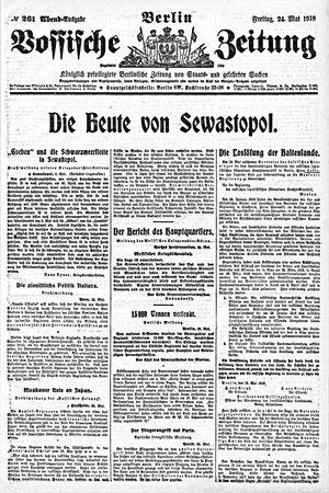 Vossische Zeitung on May 24, 1918