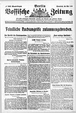 Vossische Zeitung vom 25.05.1918