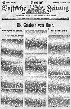 Vossische Zeitung vom 02.01.1919