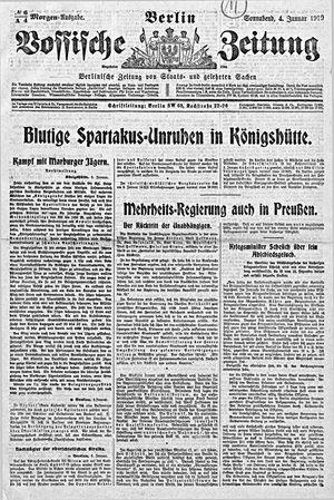 Vossische Zeitung vom 04.01.1919