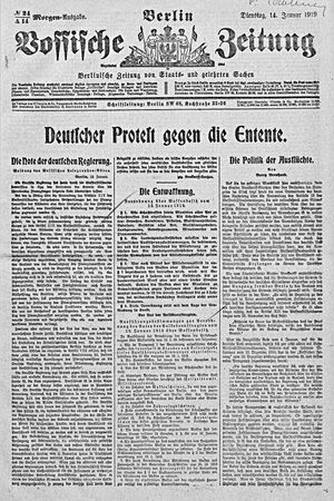 Vossische Zeitung vom 14.01.1919