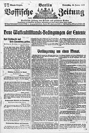 Vossische Zeitung vom 16.01.1919