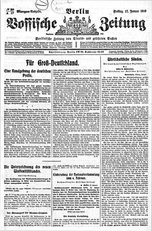 Vossische Zeitung vom 17.01.1919