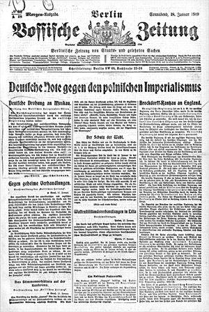 Vossische Zeitung vom 18.01.1919
