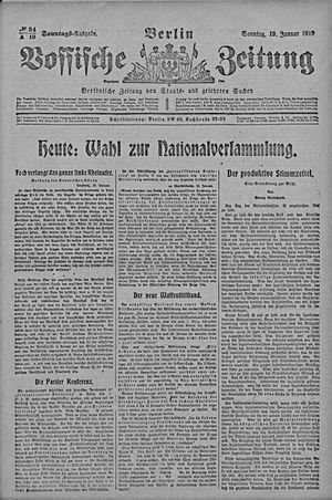 Vossische Zeitung vom 19.01.1919