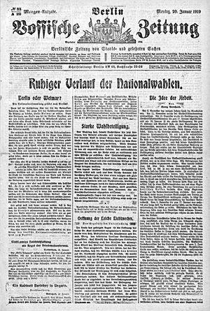 Vossische Zeitung vom 20.01.1919
