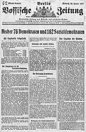 Vossische Zeitung vom 22.01.1919