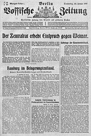 Vossische Zeitung vom 23.01.1919