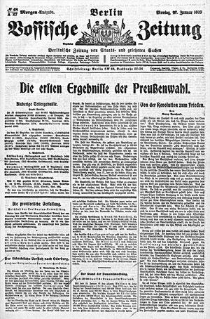 Vossische Zeitung vom 27.01.1919