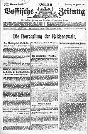 Vossische Zeitung vom 28.01.1919