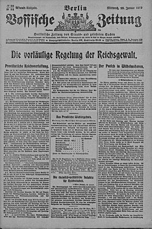 Vossische Zeitung vom 29.01.1919